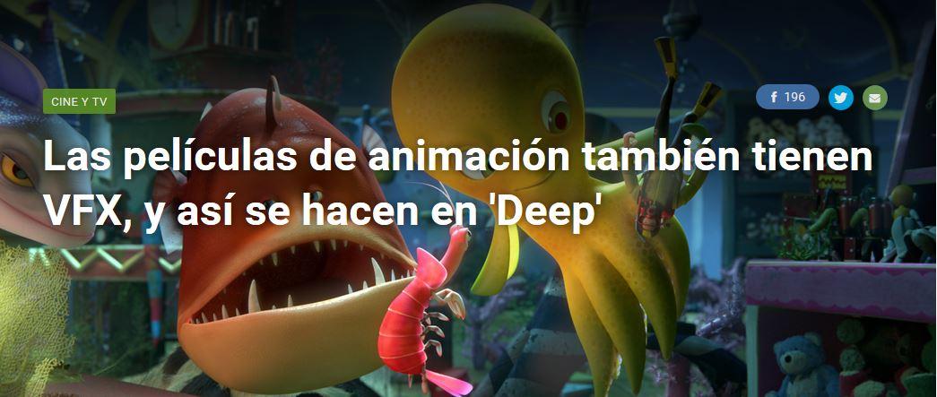 """Xataka: los VFX en animación y cómo se hacen en """"Deep""""."""